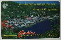 ST VINCENT & THE GRENADINES - GPT - 52CSVB - $10 - View Of Kingstown - STV-52B - Used - St. Vincent & The Grenadines