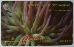 ST VINCENT & THE GRENADINES - GPT - 101CSVB - $20 - Giant Sea Anemone - STV-101B - Used - St. Vincent & The Grenadines