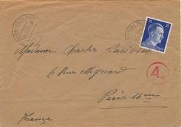 Lettre Hitler Trebbin (Kr Teltow) Censure WWII - Allemagne