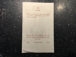 17Z - Souvenir Jubilé Cécile Stinger Heverlee 1934 - Announcements