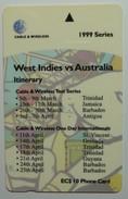 ST VINCENT & THE GRENADINES - GPT - 276CSVD - $10 - West Indies Vs Australia Cricket - STV-276D - St. Vincent & The Grenadines