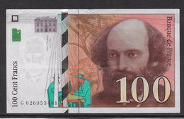France 100 Francs Cézanne - 1997 - Fayette N° 74-1 - SPL - 1992-2000 Ultima Gama