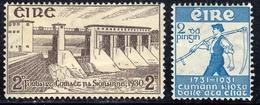 Eire 1930 Shannon Barrage/Reaper 2 Ps SG92-3 - Mint - 1922-37 Stato Libero D'Irlanda