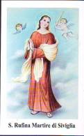 S. Rufina Martire Di Siviglia,   Santino Con  Preghiera - Religione & Esoterismo