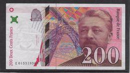 France 200 Francs Eiffel - 1996 - Fayette N° 75-3a - TTB - 1992-2000 Ultima Gama