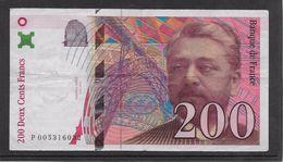 France 200 Francs Eiffel - 1996 - Fayette N° 75-3a - TTB - 200 F 1995-1999 ''Eiffel''