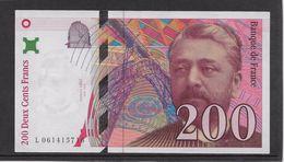 France 200 Francs Eiffel - 1997 - Fayette N° 75-4b - SPL - 1992-2000 Ultima Gama