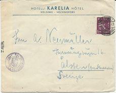 LETTRE 1940 POUR LA SUISSE AVEC BANDE ET CACHET DE CENSURE - Finland