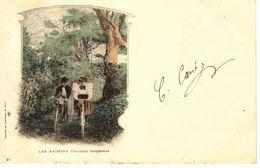 Illustrateur - Ed Du Panorama De Paris  N°21 - Les Saisons  Tournant Dangereux - Velo - CPA 9x14 BE Dos Non Divisé 1900 - Illustrateurs & Photographes