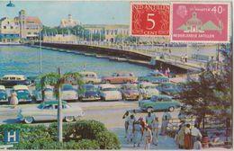 CPA CURACAO N.W.I. Pontoon Bridge Timbres Stamps 1958 - Curaçao