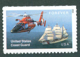 TH US 2015 Coast Guard Helicopter Sailing Ship 1v MNH - Transporte
