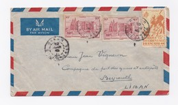 ENVELOPPE DE DAKAR POUR BEYROUTH DU 22/06/1948 - A.O.F. (1934-1959)