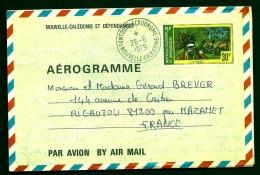 """LETTRE AEROGRAMME DE NOUVELLE CALÉDONNIE ET DÉPENDANCES- TIMBRE """"LE PILOU"""" 30 F.-  CAD 26-5-1979 - Postmark Collection (Covers)"""