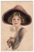 Illustrateur F. HARPER - Constance - FEMME - CHAPEAU - MODE - WOMAN - HAT - FASHION - Women