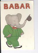 CP Babar Laurent De Brunhoff Op 1987 - Cartes Postales