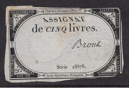 France Assignat De 5 Livres - Assignats