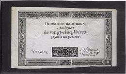 France Assignat De 25 Livres - SPL - Assignats