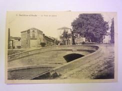 SALLELES-D'AUDE  (Aude)  :  Le  PONT De  Pierre   1908    - Salleles D'Aude