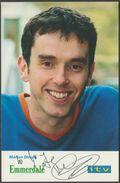 Signed Photo - Mark Charnock - Marlon Dingle In Emmerdale, C.1998 - Autograph - Autographs
