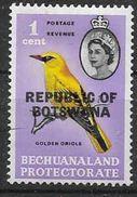 1966 BOTSWANA 153** Oiseau, Issu De Série - Botswana (1966-...)
