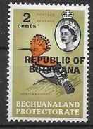 1966 BOTSWANA 154** Oiseau, Issu De Série - Botswana (1966-...)