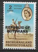 1966 BOTSWANA 166** Animal , Pli, Deuxieme Choix, Issu De Série - Botswana (1966-...)