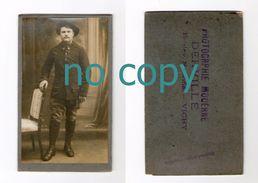Photo Cdv D'un Militaire, Chasseur Alpin ? 11 Sur Col, Photographe Derville, Vichy - Guerra, Militari