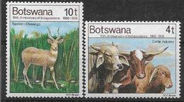 1976 BOTSWANA 321-22** Animaux, Seuls, Issus De Série - Botswana (1966-...)