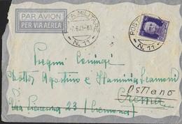 POSTA MILITARE - BUSTA DA PM 11 (CIRENE-LIBIA) 07.06.1941 (p.1) PER CREMA RISPEDITA A OSTIANO - Military Mail (PM)