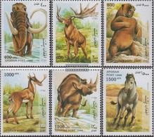 Afghanistan 1784-1789 (complete Issue) Unmounted Mint / Never Hinged 1998 Prehistoric Mammals - Afghanistan