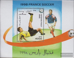 Afghanistan Block88 (complete Issue) Unmounted Mint / Never Hinged 1996 Football-WM In France - Afghanistan