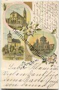 Pforzheim - Synagoge - Kirchen - Farblithographie - Pforzheim