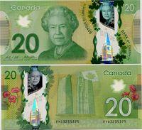 CANADA       20 Dollars       P-108b       2012 (ca. 2015)       UNC  [ Sign. Wilkins - Poloz ] - Canada