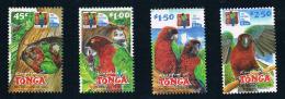 NE0590 Tonga 2002 Bird Stamps Parrot 4 Full 1124 - Stamps
