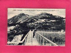 38 Isère, Grenoble, Le Jardin Des Dauphins, Les Grands Promenoirs Et La Bastille, Animée, 1913, (E. R.) - Grenoble