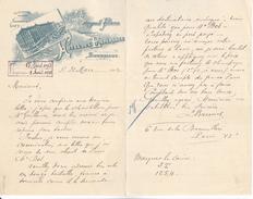 Belgique, Bruxelles- Hotel De L'espérance,Antognoli Frères Proptaires, Lettre Illustrée De 1912. Tb état. - Belgique