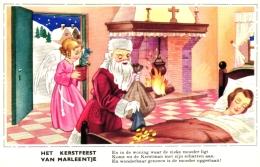 Weihnachten, Het Kerstfeest, Van Marleentje,  Engel, Weihnachtsmann, Schlafende Frau, Um 1940/50 - Non Classés