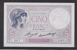 France 5 Francs Violet Type 1917 - 14-9-1933 - SPL - 1871-1952 Anciens Francs Circulés Au XXème