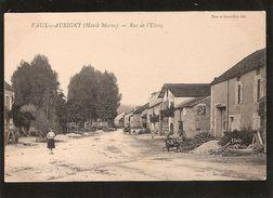 Vaux Sous  Aubigny Rue De L'etang   (bohémiens Au Fond Vers Les Arbres) - Autres Communes