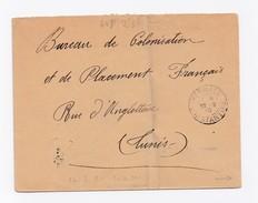 ENVELOPPE  DE KERRATA POUR TUNIS DU 26/05/1910 - Algeria (1924-1962)