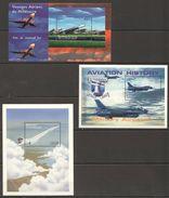F036 CENTRAFRICAINE, DE GUINEE, LIBERIA AVIATION 3BL MNH - Airplanes