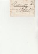 LETTRE TAXEE-CHIFFRES TAXES 25  AVEC DOUBLE TRAIT NOIR -CAD LYON 11 OCT 1850 - Lettres Taxées