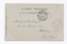 CARTE POSTALE DE SAINTMILIA POUR BEAUNE DU 14/03/1903 - Algeria (1924-1962)