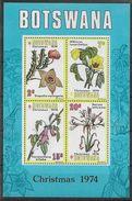 1974 BOTSWANA BF 8** Noël, Fleurs - Botswana (1966-...)