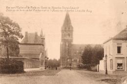 BELGIQUE - LIMBOURG - BOURG-LEOPOLD - LEOPOLDSBOURG - Camp De Beverloo - L'Eglise Et La Poste - De Kerke En Het Post... - Leopoldsburg (Camp De Beverloo)