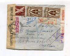 !!! PRIX FIXE : LETTRE RECO DE DOUALA POUR CAPE TOWN DE 1944 AVEC DOUBLE CENSURE SUD AFRICAINE ET CAMEROUNAISE - Cameroun (1915-1959)