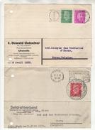 Allemagne 2 Cartes Postales Trouée (pour Le Rangement) 1930 Et 1933 Avec Publicité - Allemagne