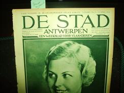 """-**DE  STAD  -**n°5-13/4/1934-""""Het Kasteel  Van GROOT-BIJGAARDEN  (2 Blz.)+ - Magazines & Newspapers"""