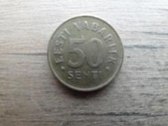 Estonie  50  Senti  1992  Km 24 - Estonia