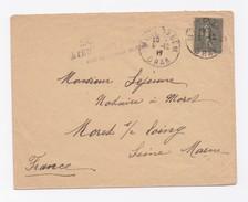ENVELOPPE DE MOSTAGANEM POUR MORET SUR LOING DU 08/12/1917 - Algeria (1924-1962)